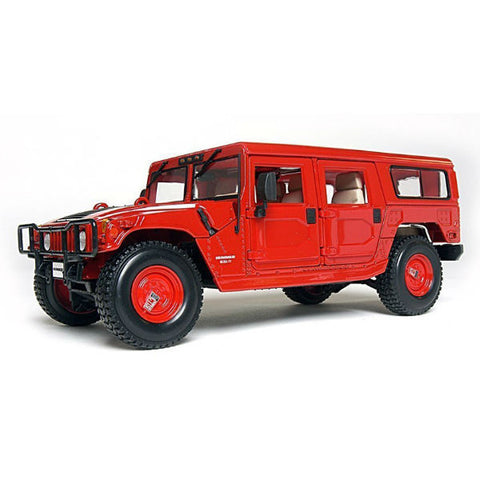 Maisto Hummer 4 Door Wagon 1/18 Red - Hobbytoys