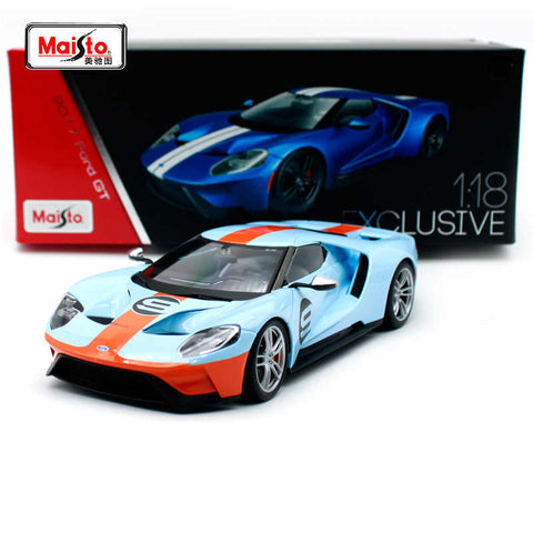 Maisto 2017 Ford GT Exclusive Edition 1/18 Orange Blue
