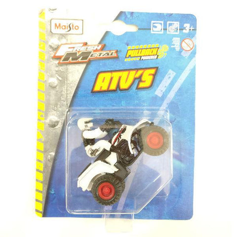 Maisto Fresh Metal 4X4 ATV Racing Motorcycle White