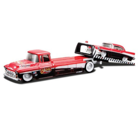Maisto Elite Transport 1957 Chevrolet Flatbed with 1957 Chevrolet Bel Air 1/64