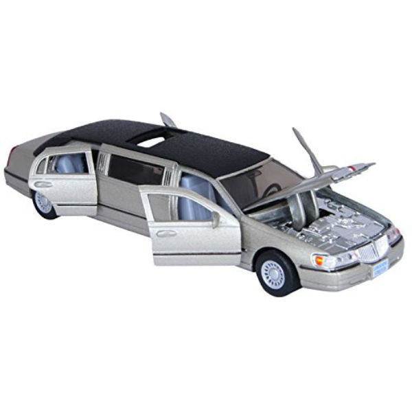Kinsmart 1999 Lincoln Town Car Stretch Limousine 1/38 Grey