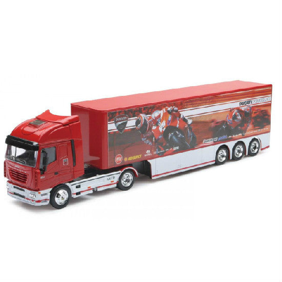 New-Ray Iveco Stralis Ducati MotoGP Race Die-cast Toy Truck 2010 1:87 Scale - Hobbytoys
