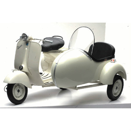 New-Ray Vespa 150 VL1T with Side Car Scooter Scale Model 1:6 Scale - Hobbytoys