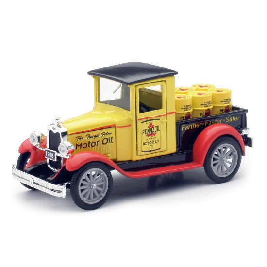New-Ray 1928 Chevy Pennzoil Pick Up Truck 1:32 Scale Diecast Model - Hobbytoys