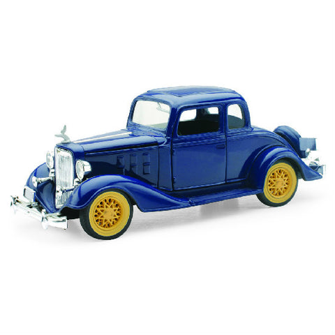 New-Ray 1933 Chevy Two Passenger 5 Window Coupe 1:32 Diecast Scale Model Car - Hobbytoys