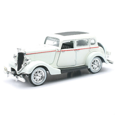 New-Ray 1934 Ford Deluxe Fordor Diecast Toy Model Car - Hobbytoys