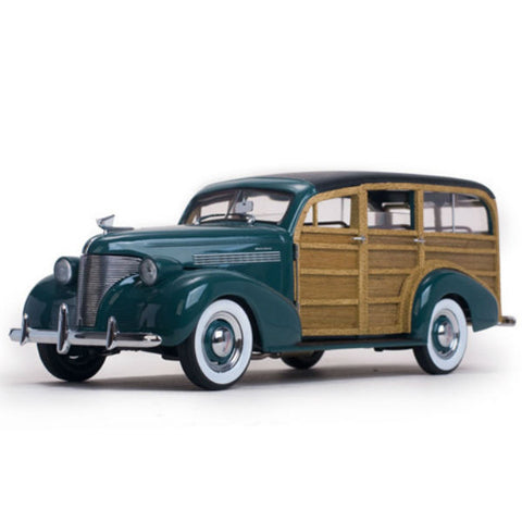 Sun Star 1939 Chevrolet Woody Station Wagon Yosemite Green 1/18 - Hobbytoys
