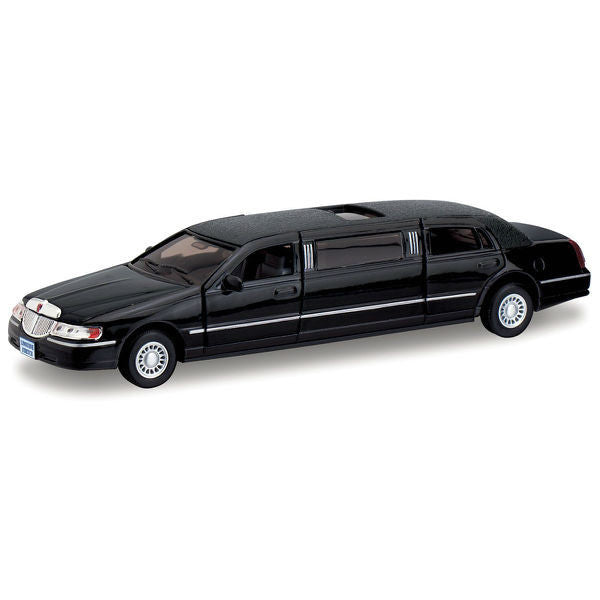 Kinsmart 1999 Lincoln Town Car Stretch Limousine 1/38 Black