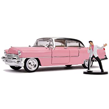 Jada 1955 Cadillac Fleetwood With Singing Elvis Figure 1/24