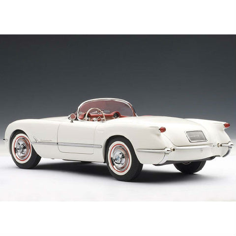 AUTOart 1953 Chevrolet Corvette 1/18 Polo White - Hobbytoys - 1