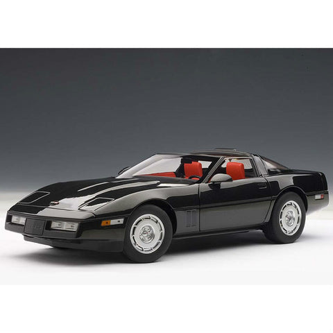 AUTOart 1986 Chevrolet Corvette 1/18 Black - Hobbytoys - 1