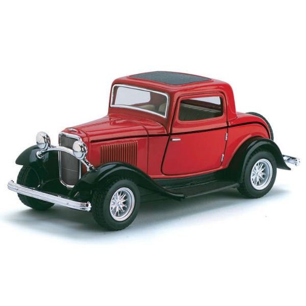 Kinsmart 1932 Ford 3-Window Coupe 1/34 Red