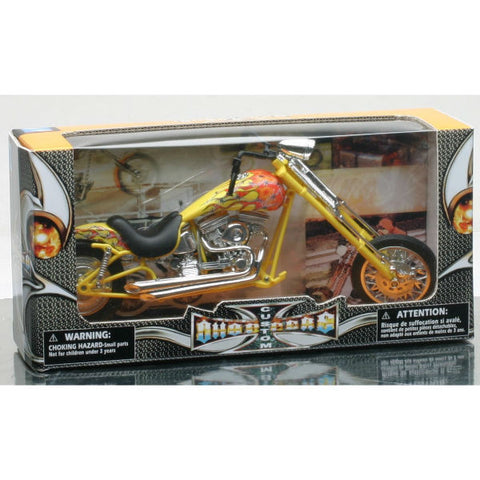 NewRay Custom Chopper 1:12 Diecast Motorcycle Model - Hobbytoys - 2