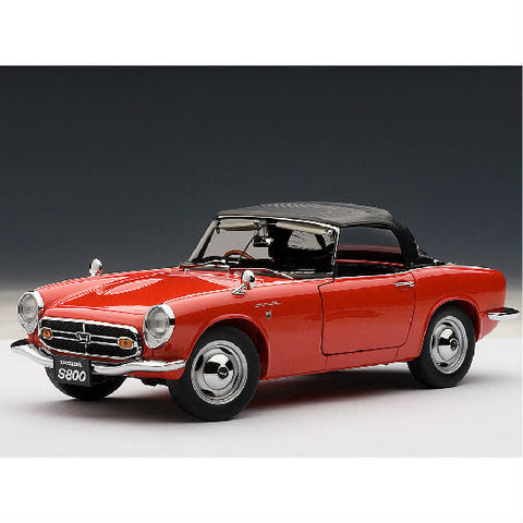 AUTOart 1966 Honda S800 Roadster 1/18 Red - Hobbytoys - 1