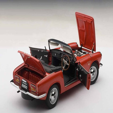 AUTOart 1966 Honda S800 Roadster 1/18 Red - Hobbytoys - 2