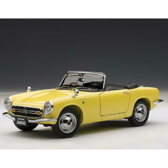 AUTOart 1966 Honda S800 Roadster 1/18 Yellow - Hobbytoys - 1