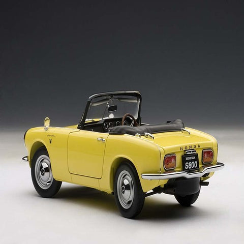 AUTOart 1966 Honda S800 Roadster 1/18 Yellow - Hobbytoys - 2