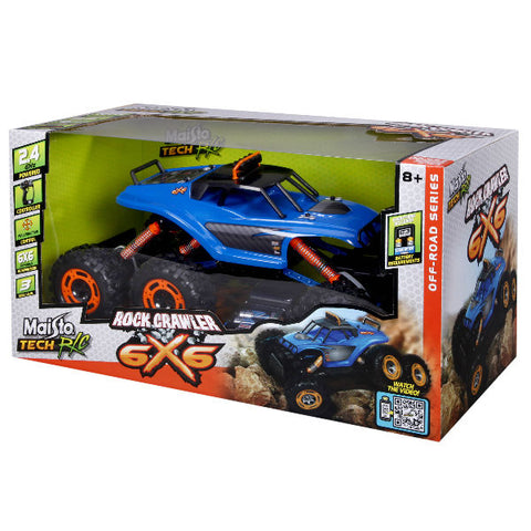 Maisto Rock Crawler 6X6 RC Vehicle green colour