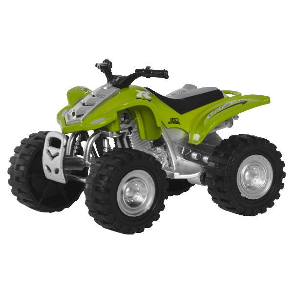 Diecast ATV Quad Bike X Racer 600 Small - Green - Hobbytoys - 1