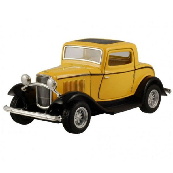 Kinsmart 1932 Ford 3-Window Coupe 1/34 Yellow