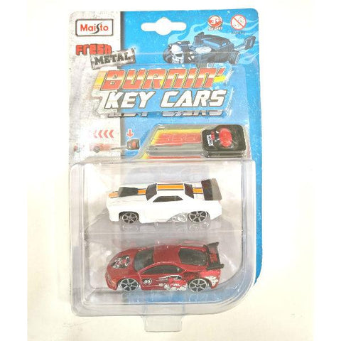 Maisto Fresh Metal Burnin' Key Cars Slayer and Street Speeder