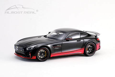 Almost Real Mercedes-AMG GT R - 2017 - Glossy Black w/red stripe 1/18