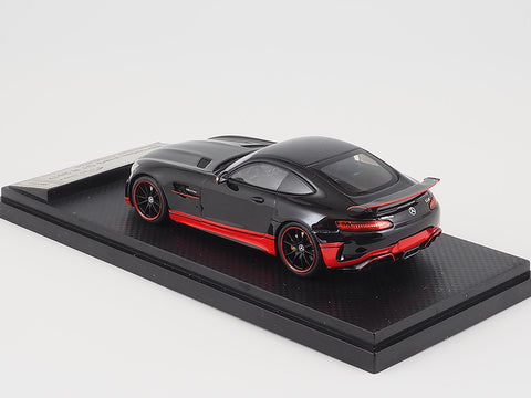 Almost Real Mercedes Benz AMG GT R - 2017 - Glossy Black w/red stripe 1/43