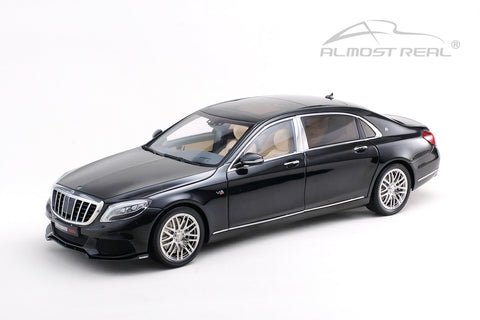Almost Real Brabus 900 Mercedes-Maybach S-Class - Obsidian Black 1/18