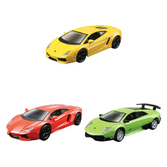 "Maisto Lamborghini Collection-4 4.5"" Pull Back Die-cast Metal Cars - Hobbytoys - 1"