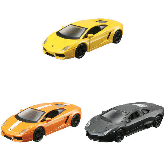 "Maisto Lamborghini Collection-3 4.5"" Pull Back Die-cast Metal Cars - Hobbytoys"
