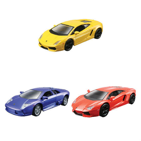 "Maisto Lamborghini Collection-2 4.5"" Pull Back Die-cast Metal Cars - Hobbytoys"