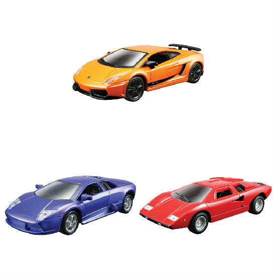 "Maisto Lamborghini Collection-6 4.5"" Pull Back Die-cast Metal Cars - Hobbytoys"