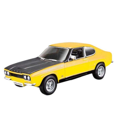 Bburago 1970 Ford Capri RS2600 yellow 1/32