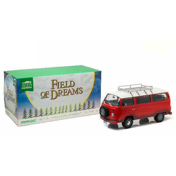 Greenlight 1973 Field of Dreams (1989) Volkswagen Type2 (T2B) Bus 1/18 - Hobbytoys - 1