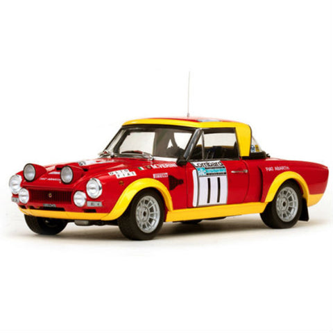Sun Star Fiat 124 Abarth # 11 M.Verini /F.Rossetti 1/18 Diecast Model Car - Hobbytoys - 1