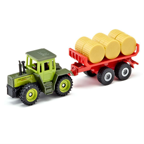 Siku Mb Trac With Bale Trailer - Hobbytoys - 1