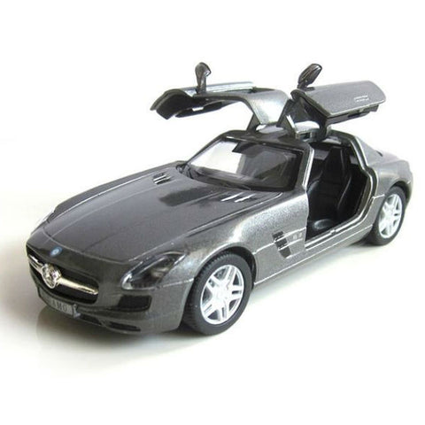 Kinsmart Mercedes Benz SLS AMG 1/36 Grey - Hobbytoys - 2