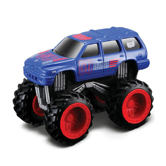 "Maisto Dirt Demons Dodge Durango 3"" Die-cast Pull Back Motorized Car - Hobbytoys"