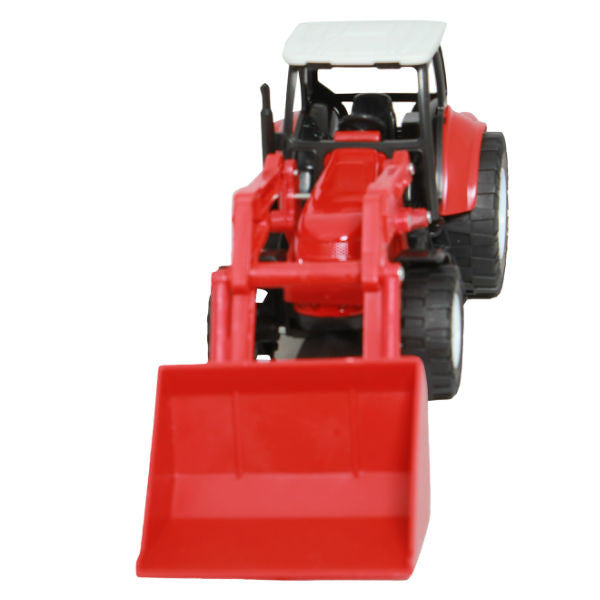 NewRay Countrylife Farm Tractor with Front Loader Red - Hobbytoys - 3