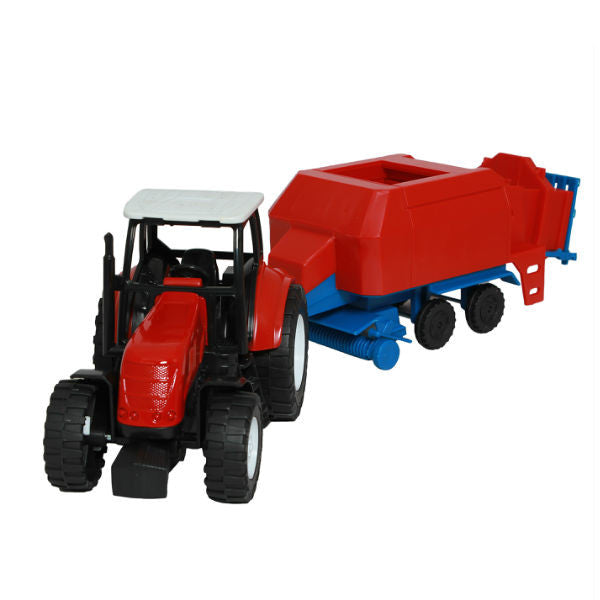 NewRay Countrylife Farm Tractor with Hay Baler - Hobbytoys - 1