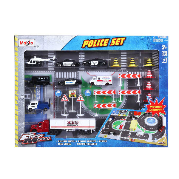 Maisto Fresh Metal Police Station Playset - Hobbytoys - 1