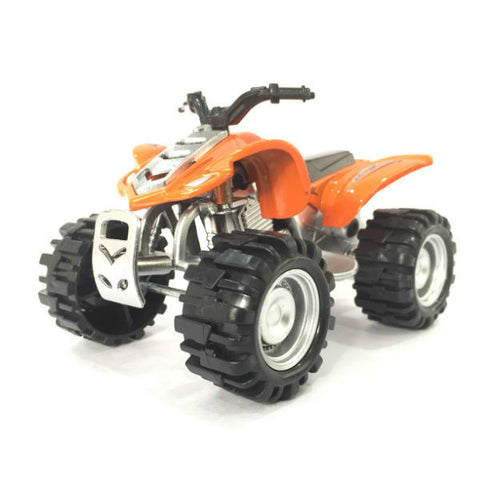 Diecast ATV Quad Bike X Racer 600 Small - Orange - Hobbytoys - 1