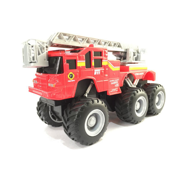 Maisto Builder Zone Quarry Monsters Ladder Truck Red - Hobbytoys - 1