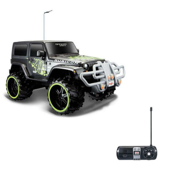 Maisto R/C Jeep Wrangler Rubicon 1/16 Black - Hobbytoys - 1