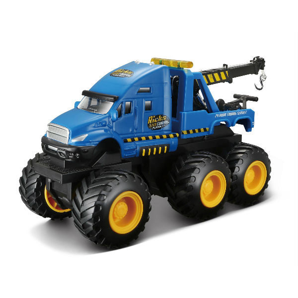 Maisto Builder Zone Quarry Monsters Tow Truck Blue - Hobbytoys
