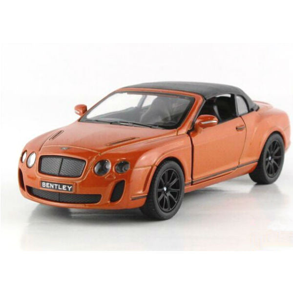 Kinsmart 2010 Bentley Continental Supersports Convertible 1/38 Orange - Hobbytoys