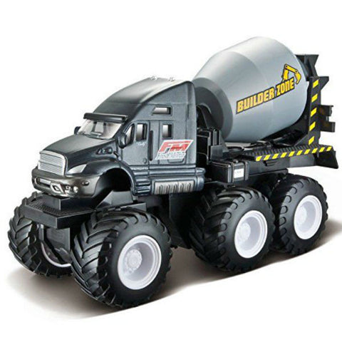 Maisto Builder Zone Quarry Monsters Cement Mixer Grey