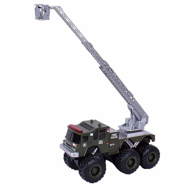 Maisto Builder Zone Quarry Monsters Ladder Truck Green