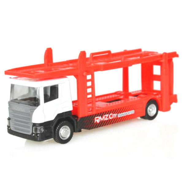 RMZ City Scania Car Carrying Trailer Truck 1/64 - Hobbytoys - 1