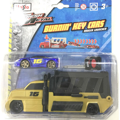 Maisto Fresh Metal Burnin' Key Cars Hauler Launcher With Fast Money - Hobbytoys